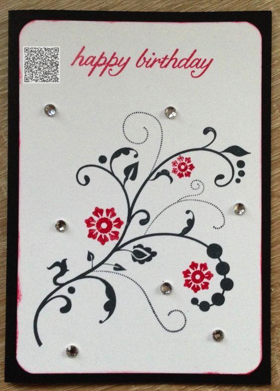 Stampin´UP! jennys_Stempelwelt Grußkarte zum Geburtstag mit den Sets Flowering Flourish und Birthday Blossoms