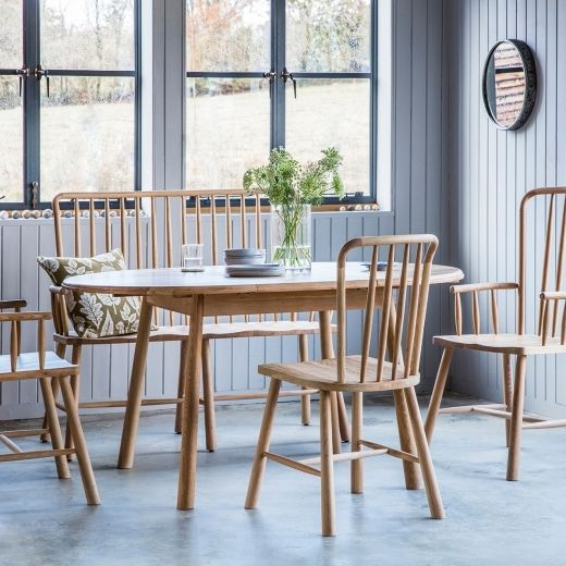 Alpine Round Extendable Dining Table, Round Extending Oak Dining Table And Chairs