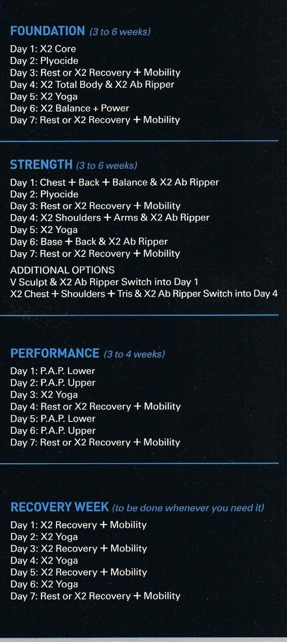 P90x2 Schedule Pdf | www.imgkid.com - The Image Kid Has It!