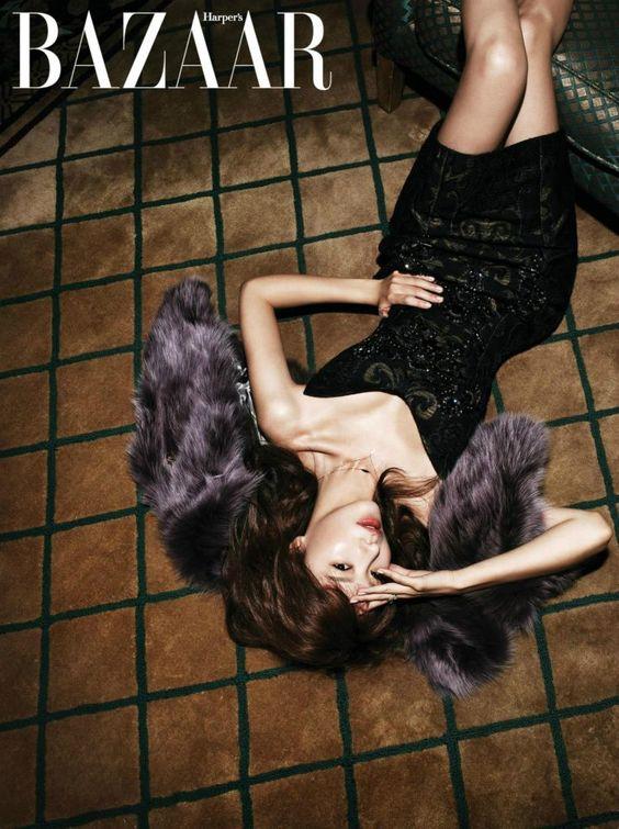 Kim Ah Joong Harper's Bazaar December 2012