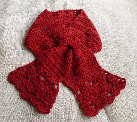 Very Easy Crochet Patterns Free : A very easy, feminine, easy wear, crocheted scarflet in a ...