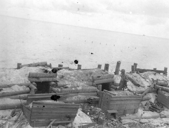 Tarawa after battle Gilbert Islands