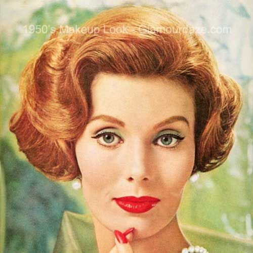 1950s makeup face2 1950s makeup pinterest makeup for Classic 50s housewife