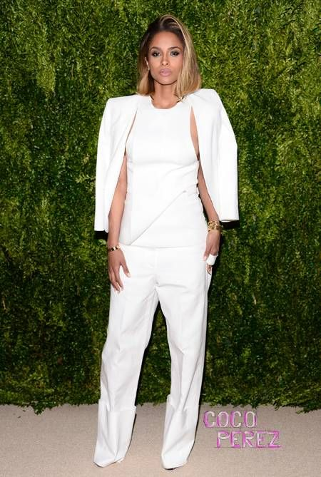 Ciara is ultra crisp in white at the CFDA/Vogue Fashion Fund Finalists party!