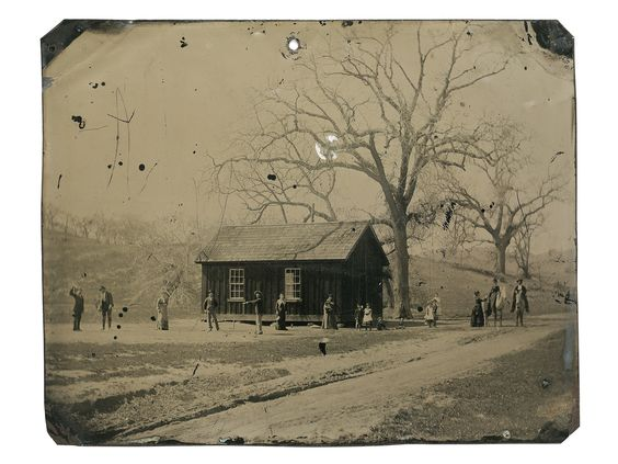 4x5 inch tintype depicts Billy the Kid and several members of The Regulators playing a leisurely game of croquet alongside friends, family, and lovers in the late summer of 1878. Taken just one month after the tumultuous Lincoln County War came to an end, it is a window into the lives of these gunmen.  It's a carefree moment after an important life event - a wedding.