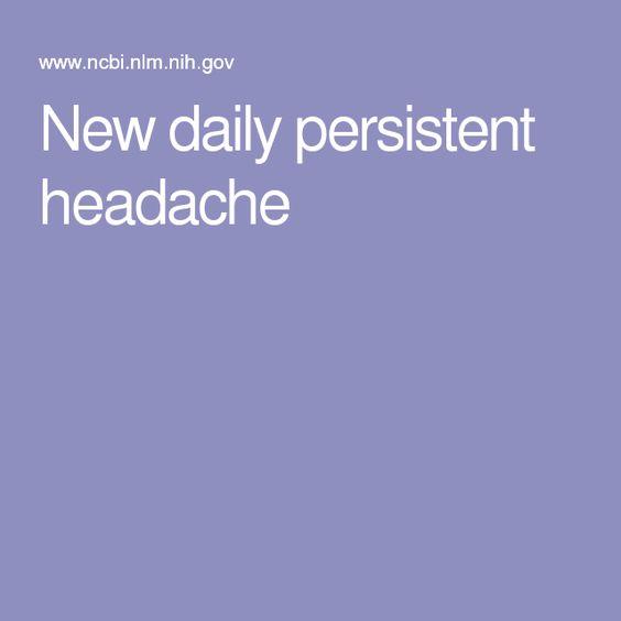 New daily persistent headache