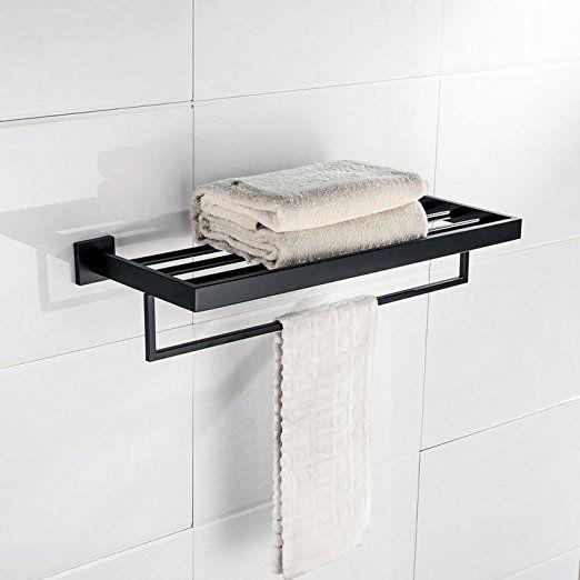 modern square single hand towel rack