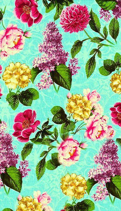 Bright Floral Patterns Tumblr