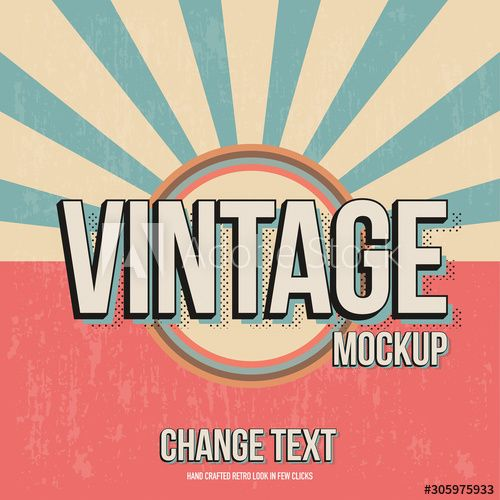 Vintage Text Effect Mockup In 2020 Vintage Text Text Effects Text