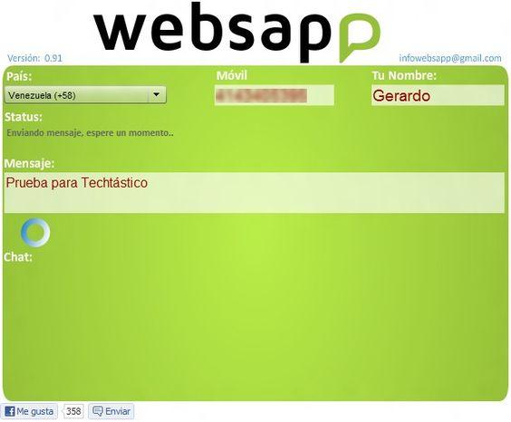 WebSapp: envia mensajes a telefonos con WhatsApp desde el ordenador