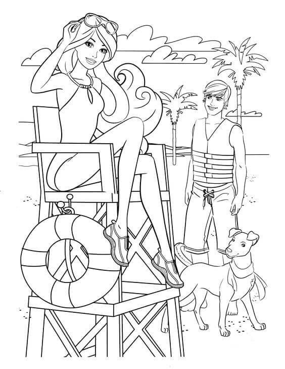 Barbie With Her Dog Coloring Page Barbie Coloring Pages Cartoon Coloring Pages Barbie Coloring