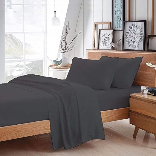1500 Thread Count Authentic Heavy Egyptian Cotton 6 Pcs Sheet Set 1 Fitted 1 Flat 4 Pillowcase Fits Mattress Luxury Bed Sheets Sheet Sets Soft Bed Sheets