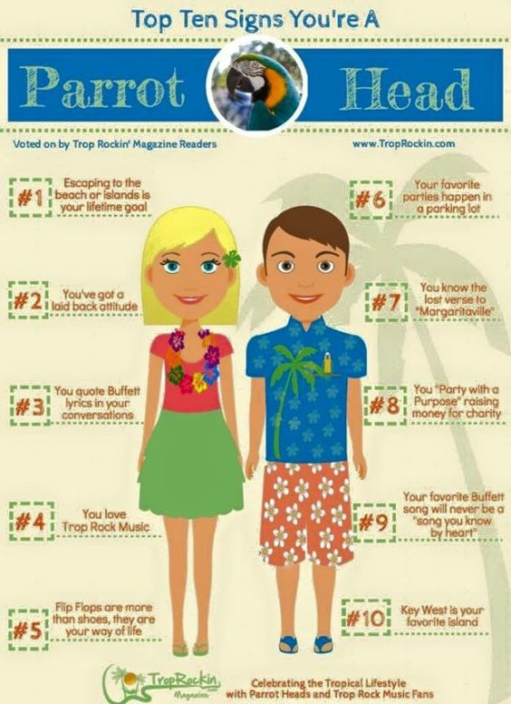 Are you a really a #ParrotHead? Repin!