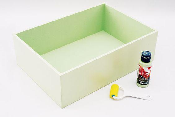 Pintura em caixas de madeira - Portal de Artesanato - O melhor site de artesanato com passo a passo gratuito