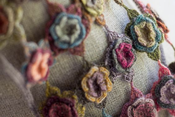 """Magnolia"" scarf designed by Sophie Digard:"