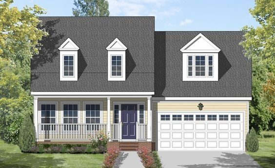 Traditional Style House Plan 3 Beds 2 5 Baths 1799 Sq Ft Plan 1053 41 Cottage House Plans Cottage Style House Plans Narrow Lot House Plans
