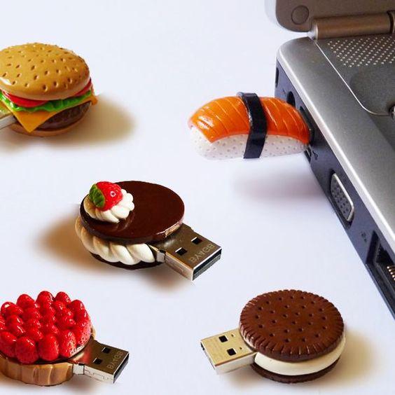 USB original de arcilla polimérica. Fimo. Sculpey.