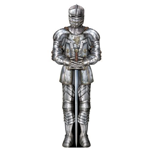 2  Knight Medieval Suit of Armor Die Cut Cut Out Decoration 3' Party Prop Camelot | eBay