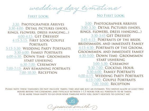 Wedding Day Timeline 2pm Ceremony: Pinterest • The World's Catalog Of Ideas