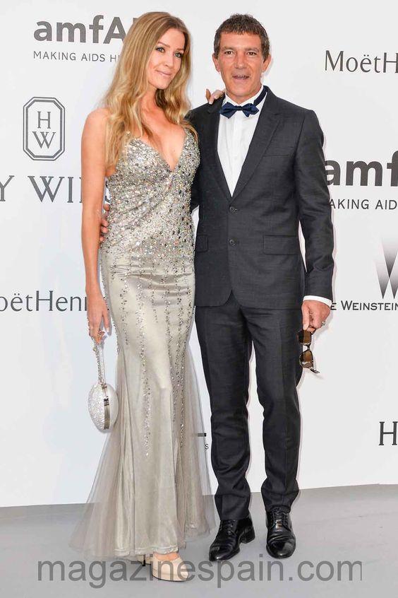 Gala amfAR: Antonio Banderas y Nicole Kimpel