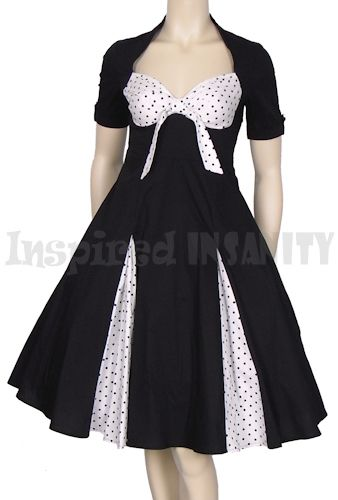 I really really really want this PINUP POLKA DOT PEEP SPLIT 50S SWING DRESS