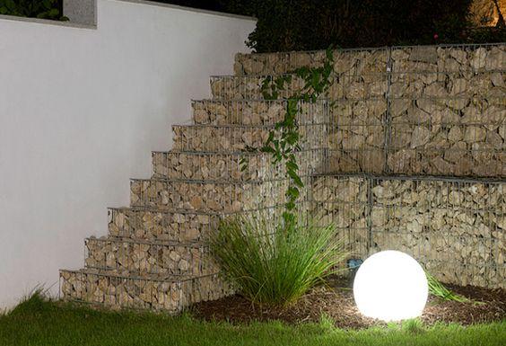 Decoracion interior y exterior con gaviones de piedra decorativos a rellenar con cualquier tipo Cerramientos de piedra