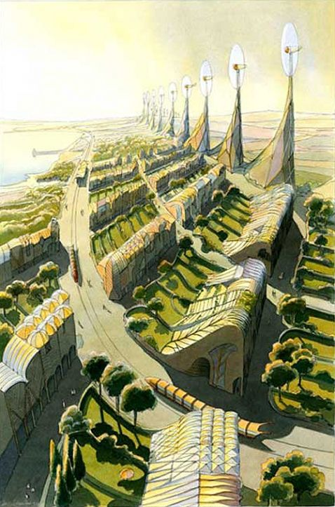 The vegetal city, Luc Schuiten:
