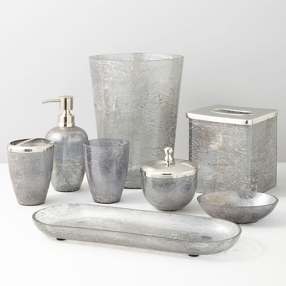 Paradigm trends lava grey bath accessories bloomingdale for Grey bath accessories