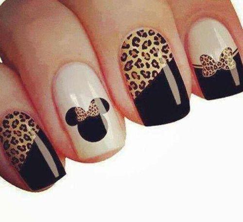 Cute Nail Art Designs Simple Tiny 1 Week Nail Polish Solid Nail Art For Round Nails Nail Art I Old What Is A Top Coat Nail Polish OrangeEssie Nail Polish Nz Leopard Minnie Mouse Nails | Beauty Nails | Pinterest | Nail Black ..