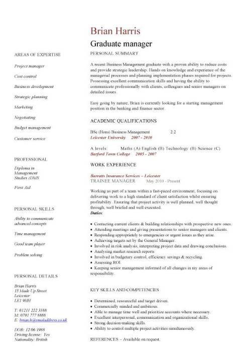 Graduate manager CV mohammed cv Pinterest Cv template, Cv - academic cv