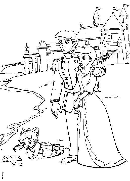 Ariel Eric And Melody Coloring Pages Disney Coloring Pages Printables Disney Coloring Pages Princess Coloring Pages
