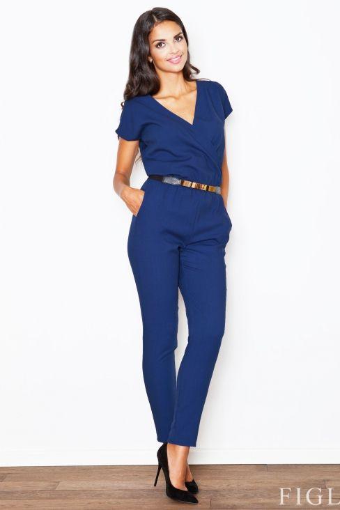 Figl - Combi-pantalon manches courtes avec ceinture