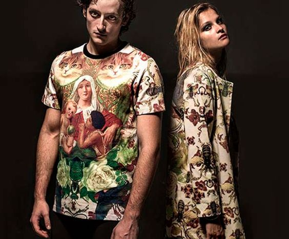 #collection #fashion #girl #style #collage #arty #cool #prints #cat #flower #floral #tiger #fashionblog #fashion blogger collezione Alfa Omega Brand collection, made in italy, printed clothes, leggings, felpe giacche stampate uomo e donna, the fashionamy blog a...