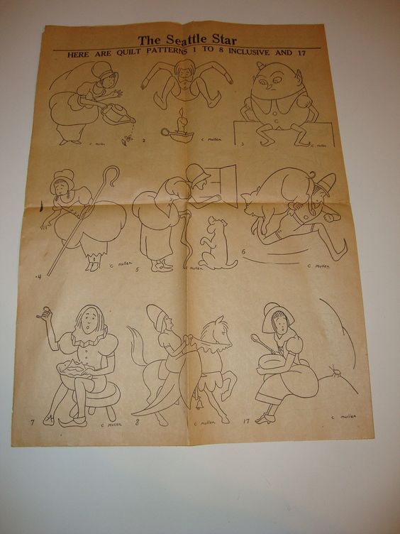 Free Shipping RARE 1930s Vintage Mother Goose Nursery