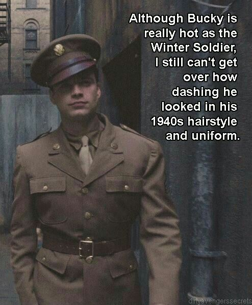 Me either! Like, he's still handsome, but 1940s bucky was