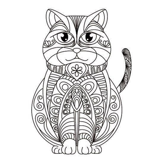 Gato Persa Con Imagenes Mandalas Animales Gatos Mandala