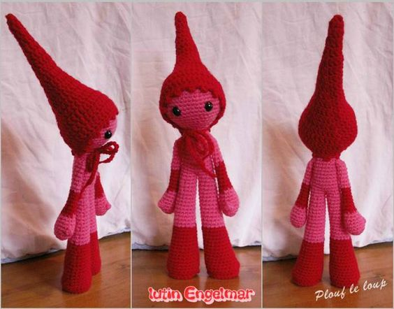 amigurumi lutin tuto gratuit en fran ais animaux poup es diy pinterest amigurumi et. Black Bedroom Furniture Sets. Home Design Ideas