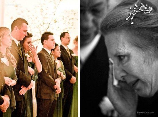 Avó e madrinhas choram! Foto: Foco Estúdio.