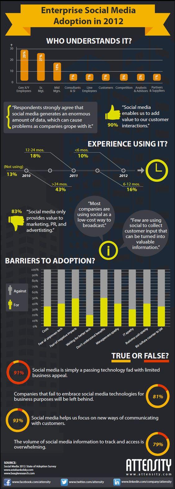Enterprise social media adoption in 2012