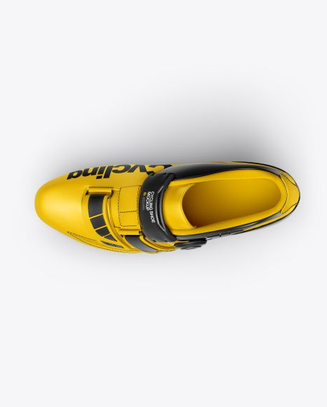 Download Cycling Shoe Mockup Top View In Apparel Mockups On Yellow Images Object Mockups Cycling Shoes Mockup Free Psd Clothing Mockup