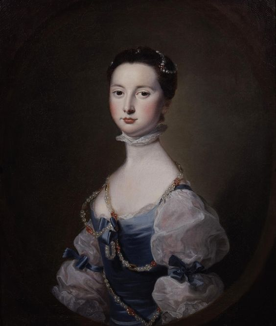 1755 Lady of the Cholmley family by Joseph Wright of Derby