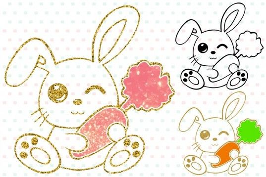Free Easter Bunny Silhouette Glitter Rabbit Carrot Outline 758s Work With Silhouette Design Studio And Cricut Design Space Bunny Svg Bunny Silhouette Free Svg
