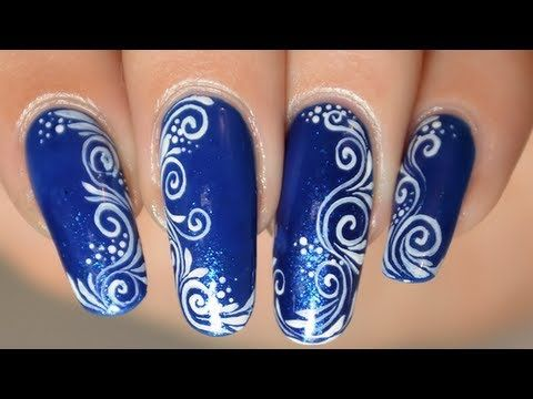 Nail Art Facile Arabesques Spirales Dessin Sur Les Ongles Ongles Pinterest Bracelets