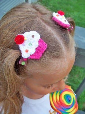 Cupcake Hair Clippies