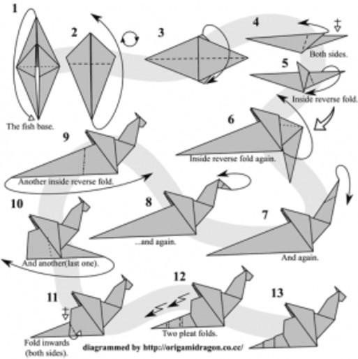 Master The Origami Dragon In A Few Simple Steps! | 514x513