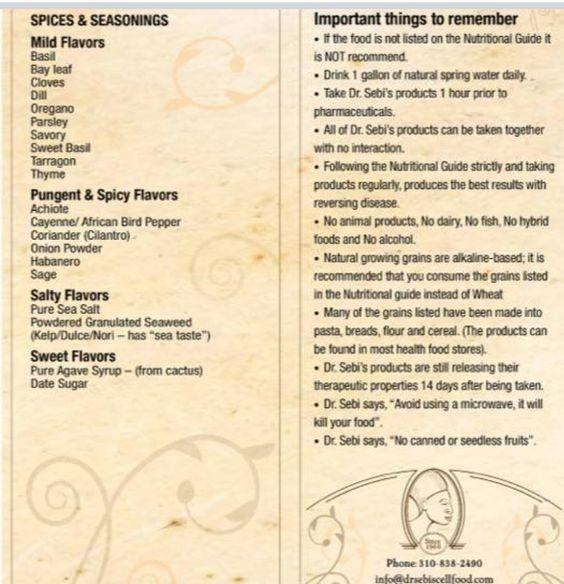 Dr Sebi Alkaline Foods List Pdf