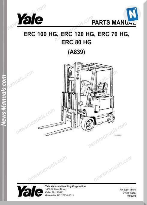parts manual for yale forklift
