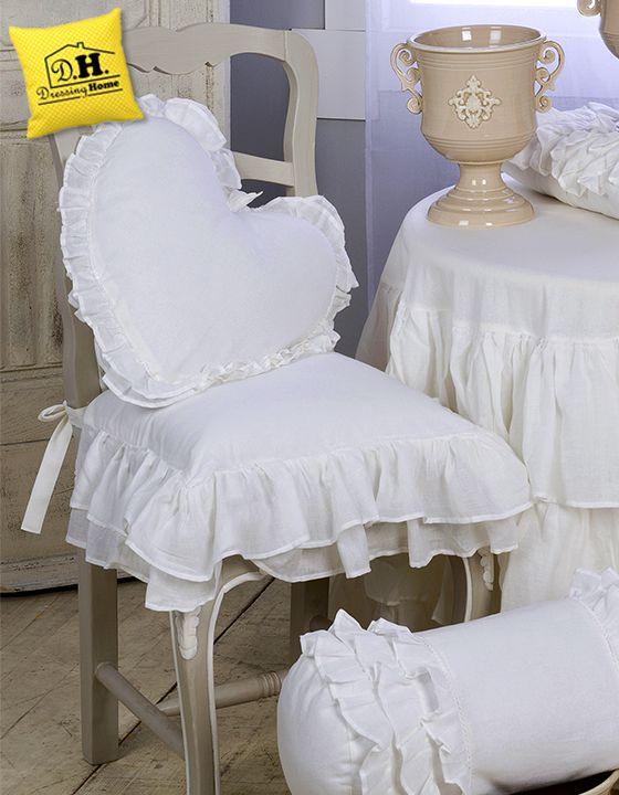 Copridivano stretch 2 posti blanc mariclo. Cuscino Per Sedia Shabby Chic Fru Fru Collection Blanc Mariclo Colore Bianco Diy Pillows Chair Cover Soft Furnishings