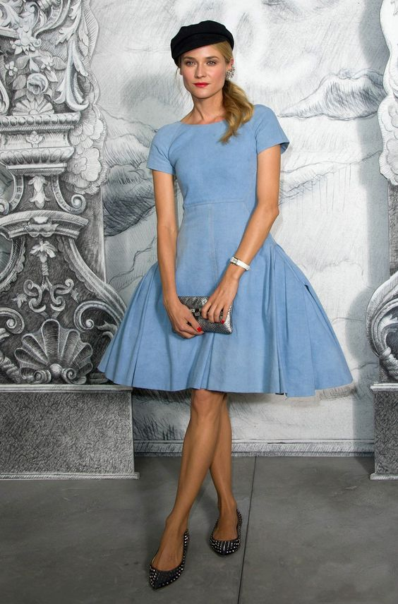 Chanel Haute Couture.  Diane Kruger in Chanel resort 2013