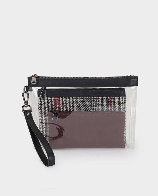 Organizador de bolsos Parfois transparente con asa extraíble